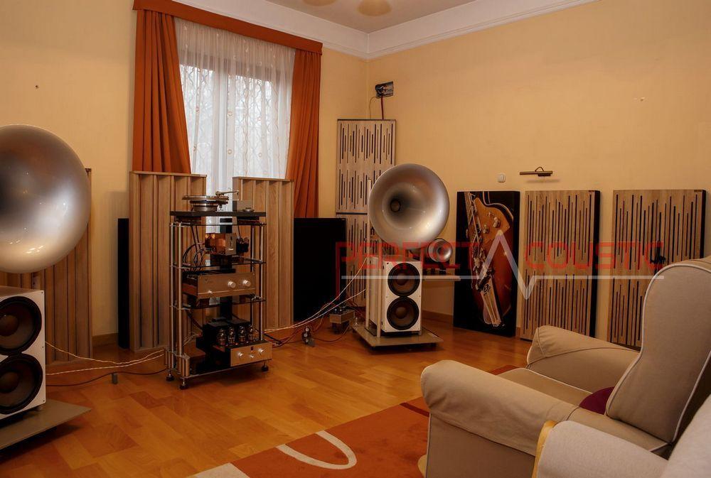 équipement de diffusion acoustique en colonne en bois (2) bass traps