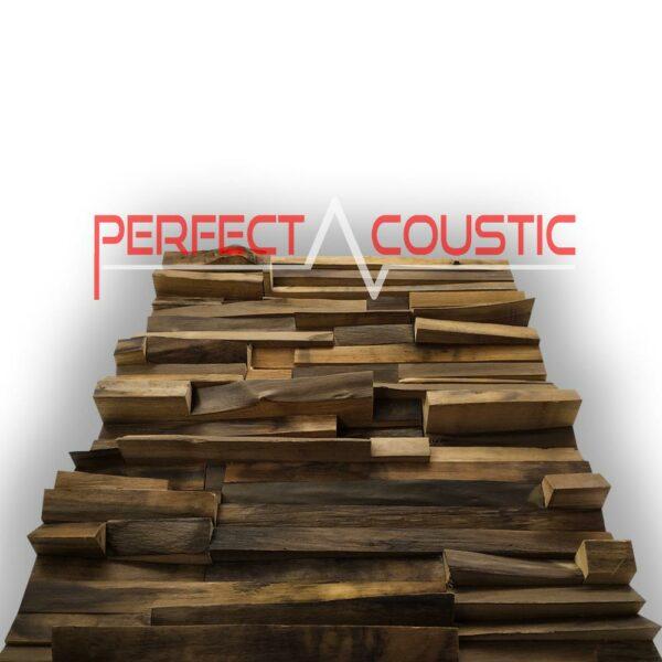 Diffuseur acoustique en bois précieux sur le côté