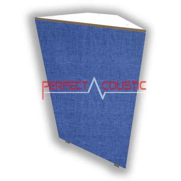 Élément d'angle à motifs en bleu