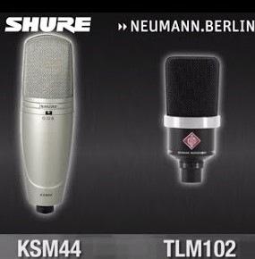 Microphones Shure ou Neumann
