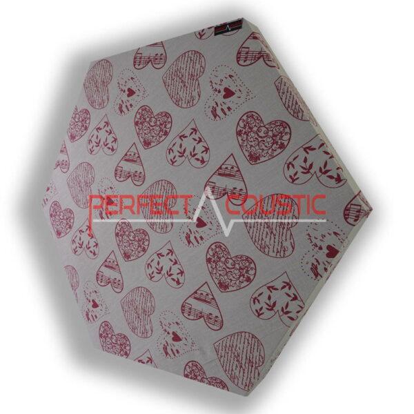 Motif coeur de panneau acoustique hexagonal