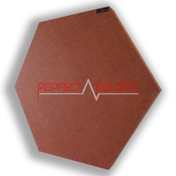 Panneau à motif acoustique hexagonal marron