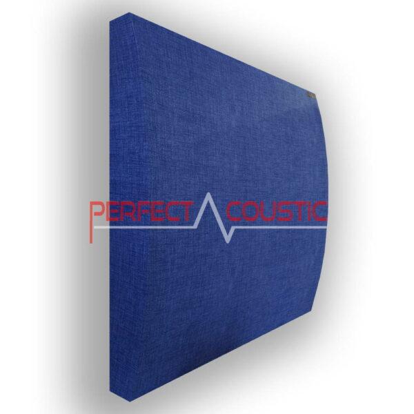 Panneau acoustique à motifs 3D bleu