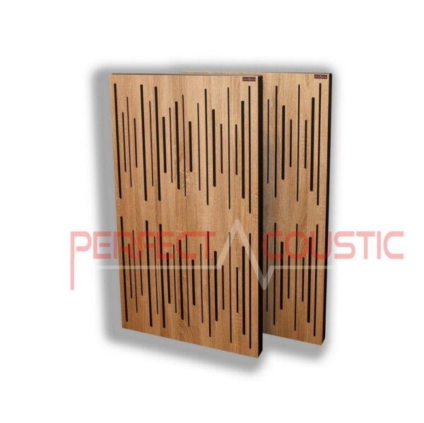 Panneau acoustique avec diffuseur chêne clair (2)