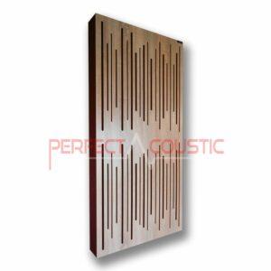 Panneau acoustique avec diffuseur chêne clair