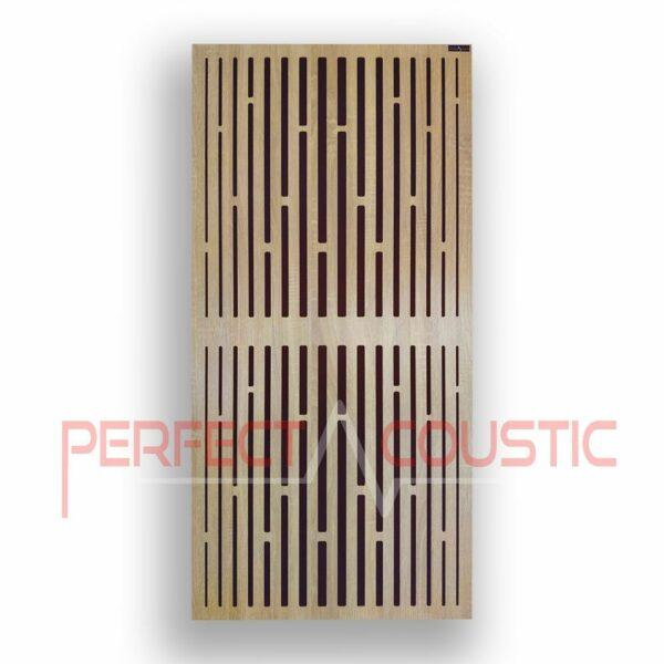 Panneau acoustique avec motifs diffuseurs en treillis