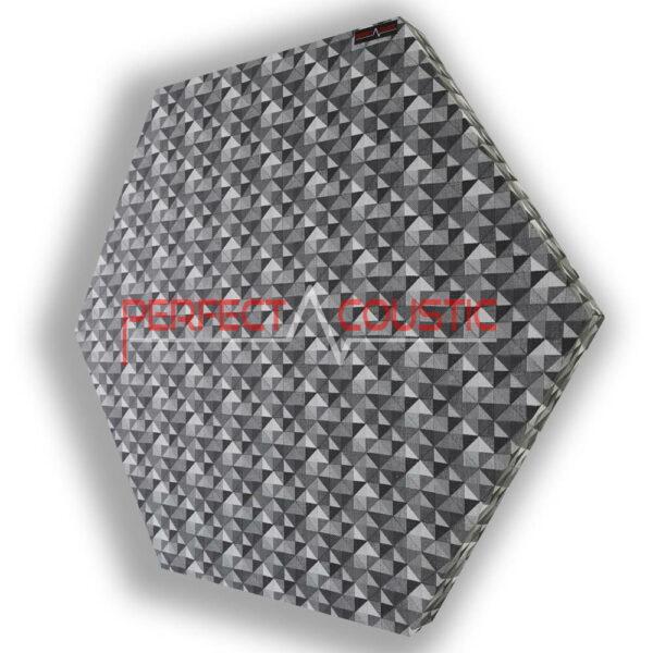 Panneau acoustique hexagonal à carreaux