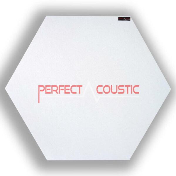 Panneau acoustique hexagonal blanc