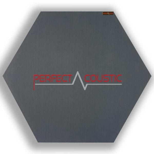 Panneau acoustique hexagonal gris 1.