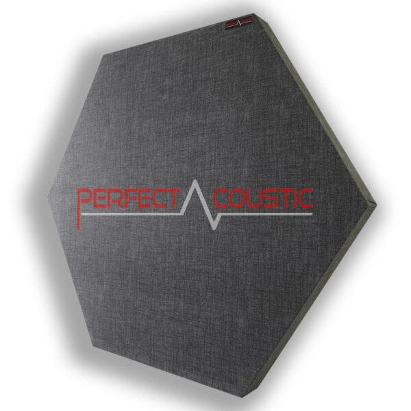 Panneau acoustique hexagonal gris