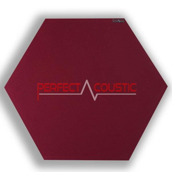 Panneau acoustique hexagonal rouge