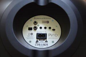 Panneau arrière du caisson de basses P1D