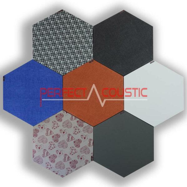 Panneaux acoustiques hexagonaux - couleurs