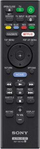 Télécommande Sony X800
