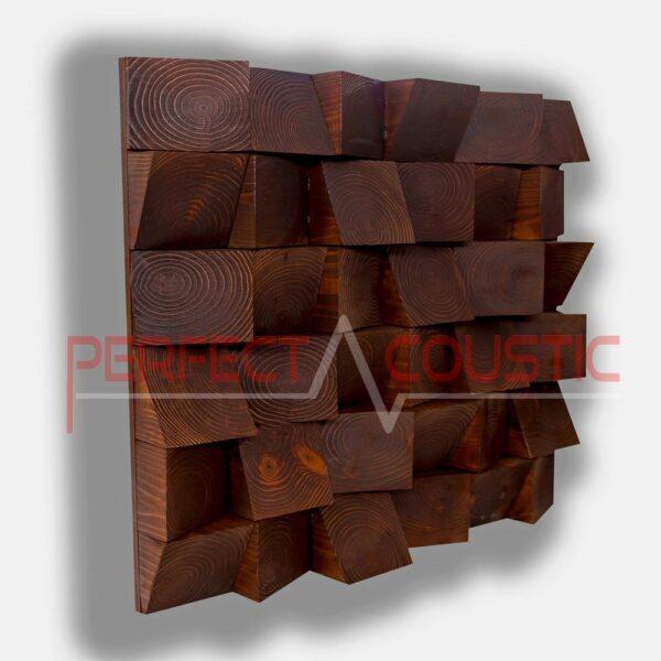 Tuyau de diffuseur acoustique en bois