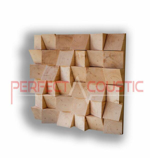 Type de diffuseur acoustique en bois
