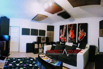 conception acoustique de cinéma maison avec absorbeur de basses (3)