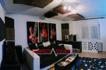 conception acoustique de cinéma maison avec absorbeur de basses (2)