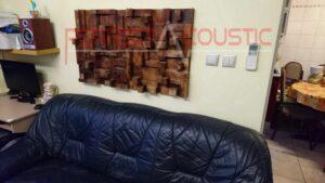 conception acoustique de cinéma maison avec diffuseur acoustique rustique (2)