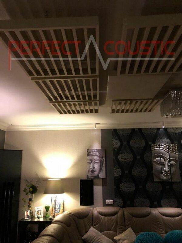 conception acoustique de home cinéma avec diffuseur panneau avant diffuseur acoustique