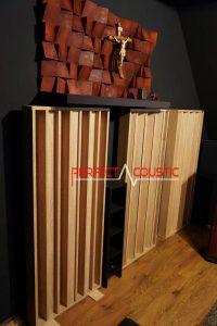 conception acoustique de la pièce avec diffuseur acoustique