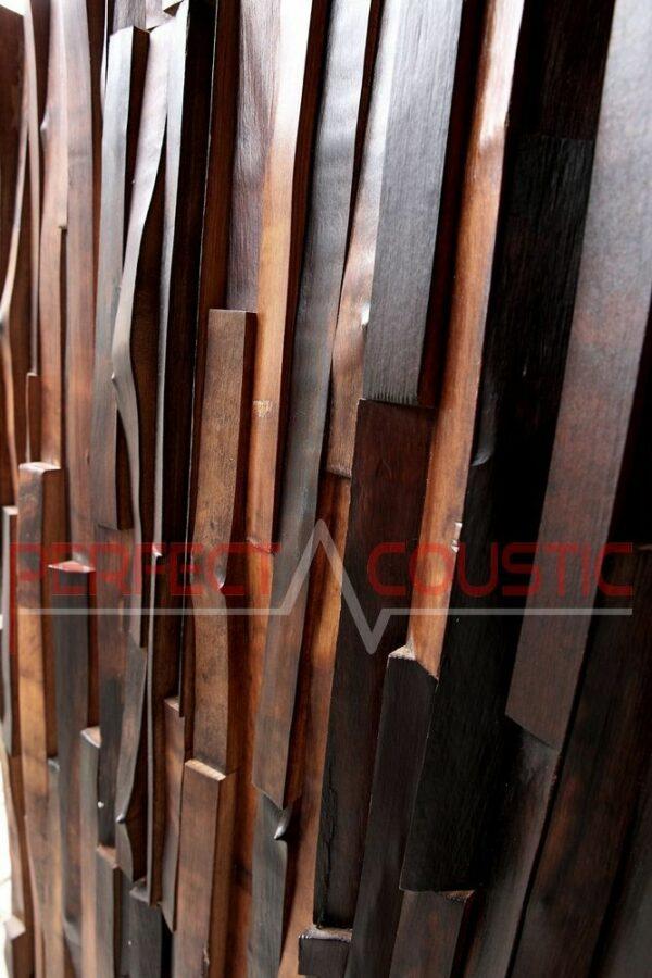 couleurs de diffuseurs acoustiques en bois noble