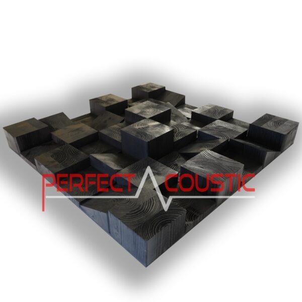diffuseur cube en bois en swartz mat