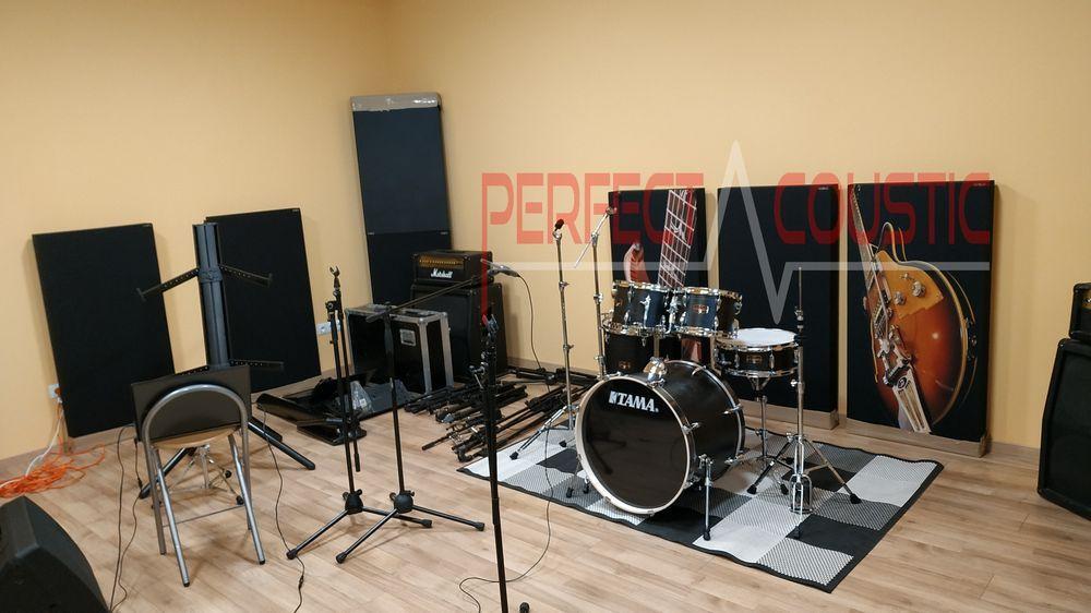 diffuseur panneau avant panneaux acoustiques en studio