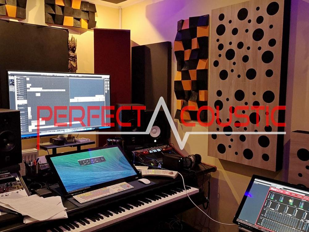 diffuseurs acoustiques dans un studio professionnel-bass traps