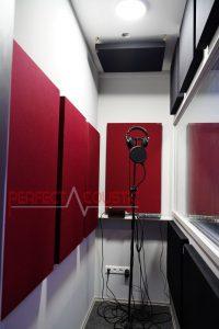 gestion acoustique de la salle d'enregistrement