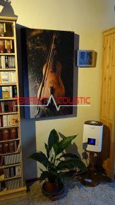 panneau acoustique imprimé avec violon