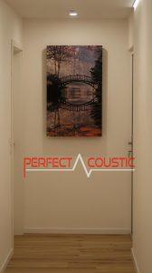 panneau acoustique imprimé sur le mur