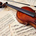 panneau acoustique imprimé violon