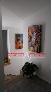 panneau acoustique photo sur le mur
