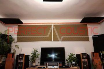 panneau acoustique placé au plafond de la salle de cinéma (3)
